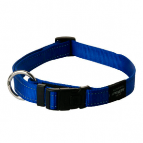 Rogz Utility Side Release Reflective Dog Collar-Blue