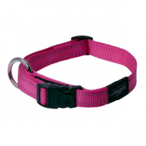 Rogz Utility Side Release Reflective Dog Collar-Pink
