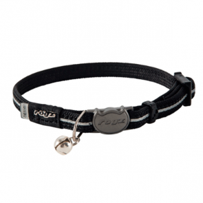 Rogz Alleycat Breakaway Cat Collar-Black