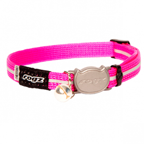 Rogz Alleycat Breakaway Cat Collar-Pink