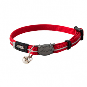 Rogz Alleycat Breakaway Cat Collar-Red