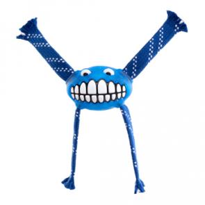 Rogz Flossy Grinz Oral Care Dog Toy-Blue-L