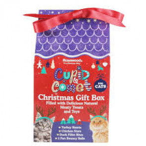 Rosewood Cupid & Comet Christmas Treat Gift Box for Cats