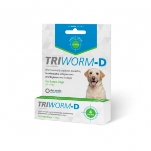 Triworm-D Individual Pack Large Dog Deworming Tablet