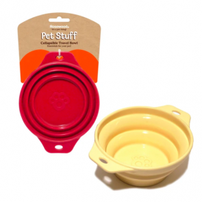 Rosewood Collapsible Travel Bowls