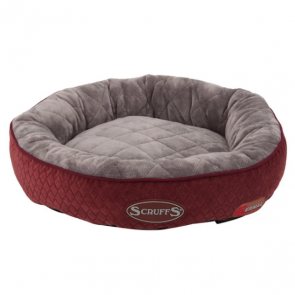 Scruffs Self-Heating Thermal Ring Cat Bed - Burgundy