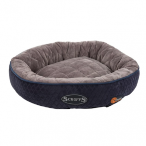 Scruffs Self-Heating Thermal Ring Cat Bed - Navy