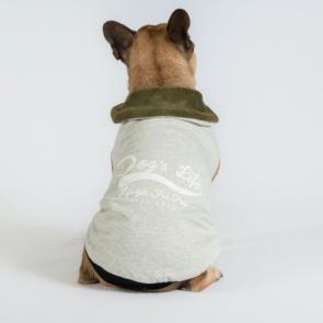 Dog's Life Retro Cape Dog Jersey-Military