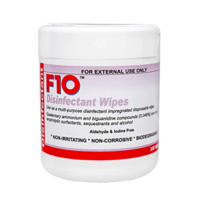 F10 Disinfectant Wipes Tub