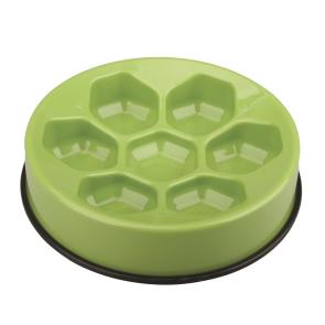 M-Pets Anti-scoff Cavity Slow Feeder Bowl - Green