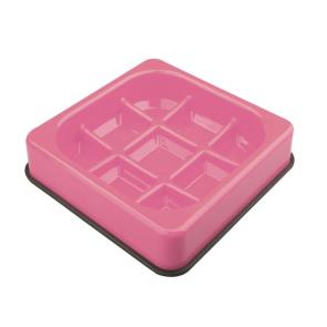 M-Pets Anti-scoff Waffle Slow Feeder Bowl - Pink