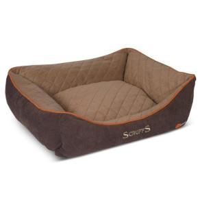 Scruffs Self-Heating Thermal Box Dog Bed - Chocolate