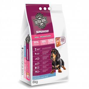 Ultra Dog Superwoof Chicken and Rice Small Puppy Dog Food