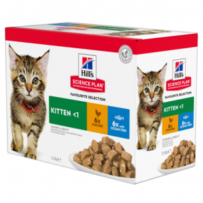 Hill's Healthy Development Chicken & Ocean Fish Kitten Food Pouches