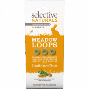Science Selective Naturals Meadow Loops Rabbit Treats - 80g
