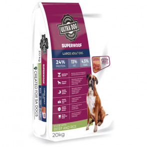 Ultra Dog Superwoof Large Adult Beef & Rice Dog Food