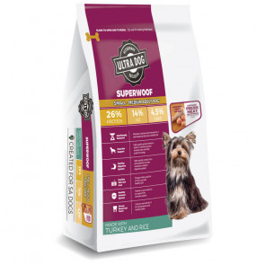 Ultra Dog Superwoof Turkey and Rice Small-Medium Adult Dog Food
