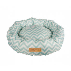 Tasmanian Round Cushioned Cat Bed-Blue