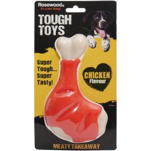 Tough Toys Meaty Chicken Takeaway Leg Dog Toy