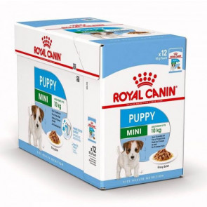 Royal Canin Mini Puppy Wet Food Pouches - 12x85g